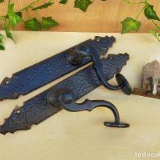 Antigüedades: PAREJA DE TIRADORES EN FORJA. Lote 226482470