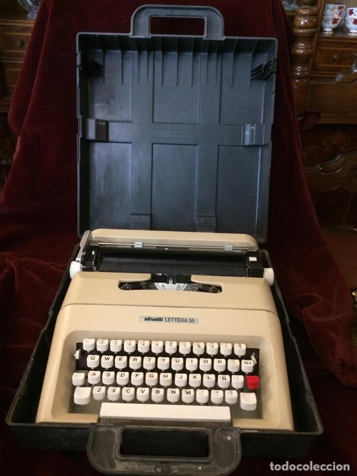 MAQUINA DE ESCRIBIR LETTERA 35 (Antigüedades - Técnicas - Máquinas de Escribir Antiguas - Olivetti)
