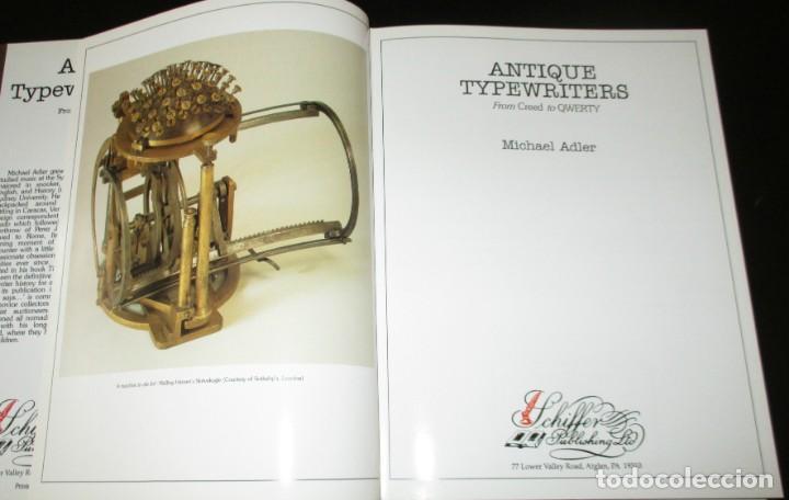 Antigüedades: ANTIQUE TYPEWRITERS. MICHAEL ADLER. LA BIBLIA DE LAS MÁQUINAS DE ESCRIBIR. EN INGLÉS. - Foto 2 - 226657574