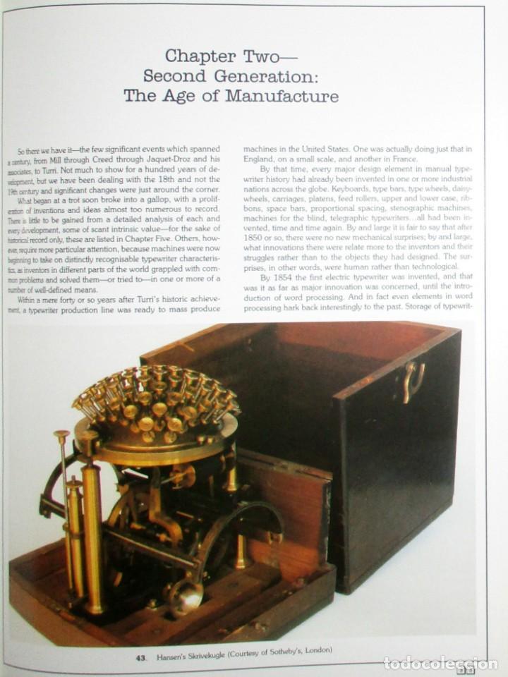 Antigüedades: ANTIQUE TYPEWRITERS. MICHAEL ADLER. LA BIBLIA DE LAS MÁQUINAS DE ESCRIBIR. EN INGLÉS. - Foto 4 - 226657574