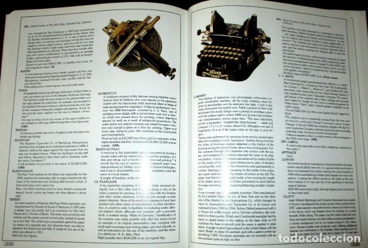 Antigüedades: ANTIQUE TYPEWRITERS. MICHAEL ADLER. LA BIBLIA DE LAS MÁQUINAS DE ESCRIBIR. EN INGLÉS. - Foto 10 - 226657574