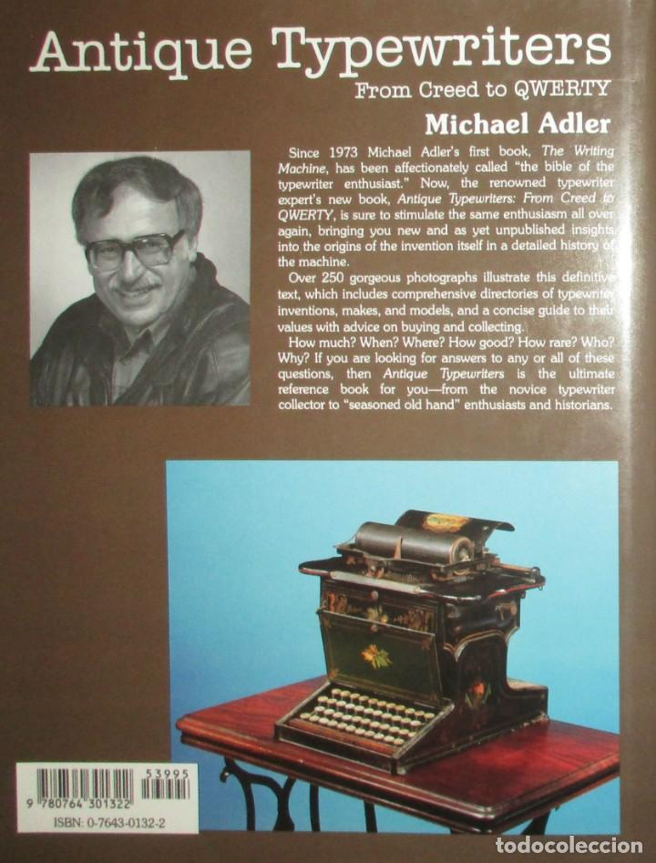 Antigüedades: ANTIQUE TYPEWRITERS. MICHAEL ADLER. LA BIBLIA DE LAS MÁQUINAS DE ESCRIBIR. EN INGLÉS. - Foto 11 - 226657574