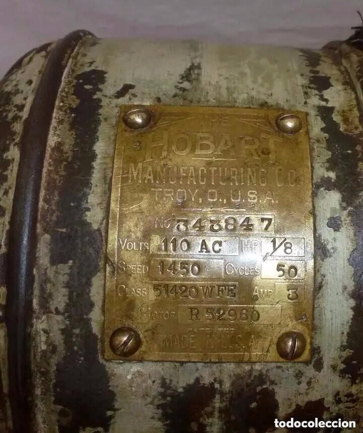 Antigüedades: Antigua Amasadora,Batidora.The Hobart Manufacturing Co Troy,o, U.S.A.Años 20. - Foto 15 - 226698620