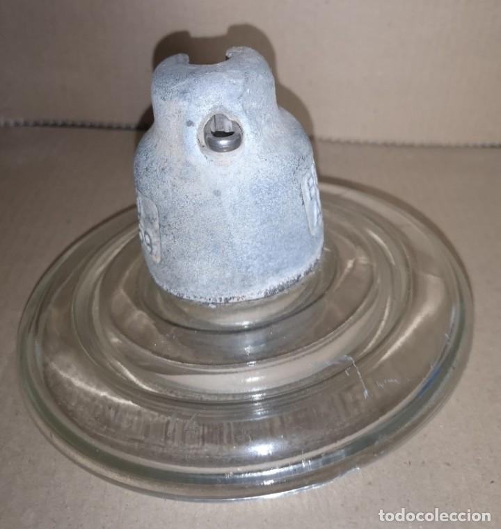 Antigüedades: JÍCARA EN CRISTAL ANTIGUA DE PLATO - Foto 4 - 226748310
