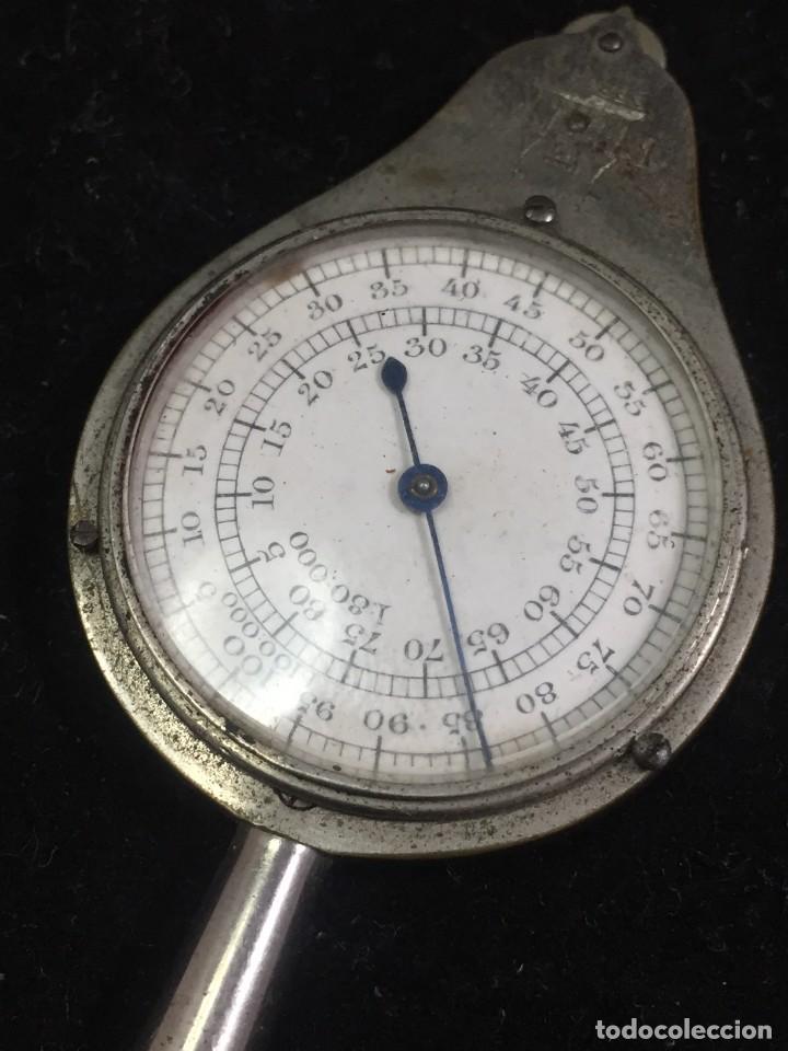 Antigüedades: Curvímetro antiguo medidor de distancias en plano. Arquitectura dibujo técnico FC deposé - Foto 2 - 226773930