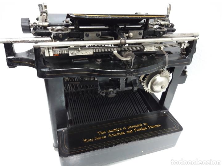 Antigüedades: ANTIGUA MAQUINA DE ESCRIBIR, TYPEWRITER REMINGTON Escritura oculta - Foto 5 - 226804586