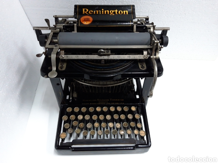 ANTIGUA MAQUINA DE ESCRIBIR, TYPEWRITER REMINGTON ESCRITURA OCULTA (Antigüedades - Técnicas - Máquinas de Escribir Antiguas - Remington)
