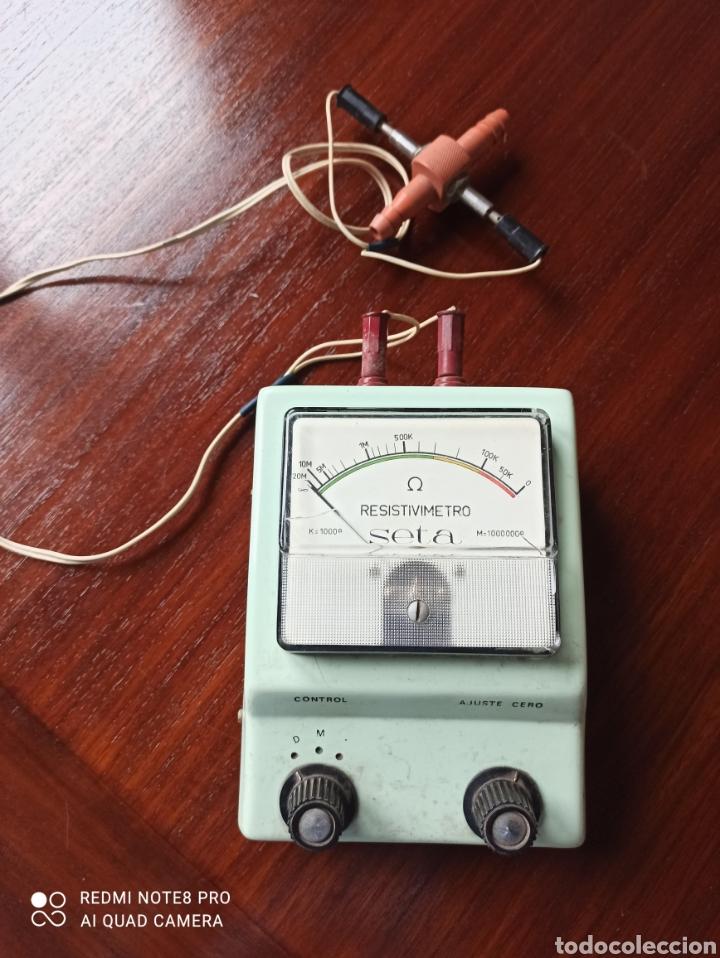 RESISTIVIMETRO SETA (Antigüedades - Técnicas - Herramientas Profesionales - Electricidad)