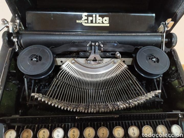 Antigüedades: Maquina escribir ERIKA 5, Seidel & Naumann A. G., Dresden; Alemania. Año 1940. - Foto 12 - 108819423