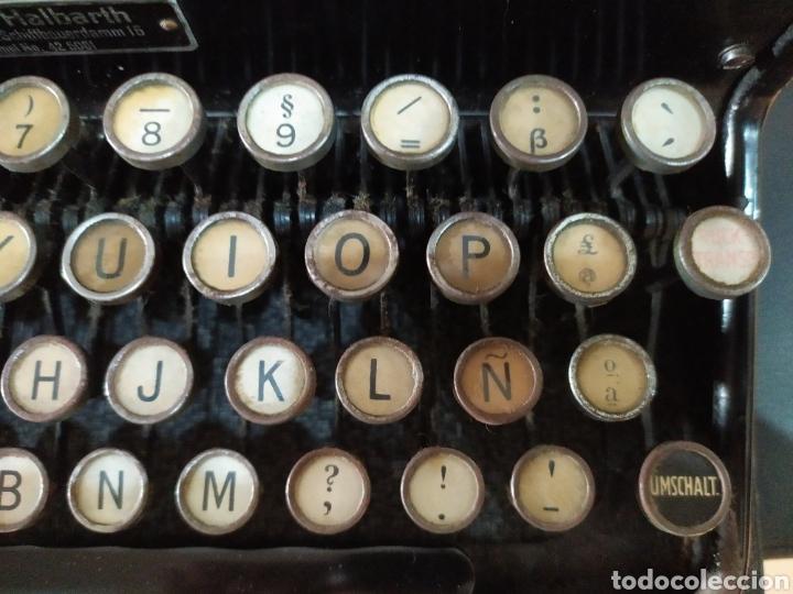 Antigüedades: Maquina escribir ERIKA 5, Seidel & Naumann A. G., Dresden; Alemania. Año 1940. - Foto 15 - 108819423