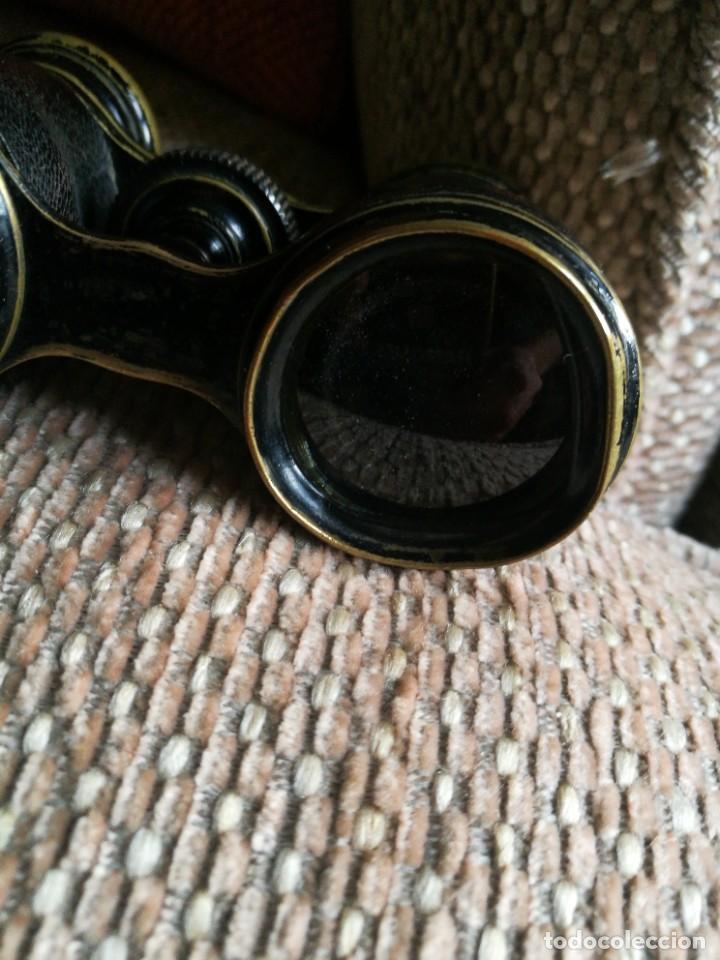 Antigüedades: Dos Gemelos, Binoculares, Prismáticos. Siglo XIX, uno de marfil sin roturas. - Foto 13 - 224821491