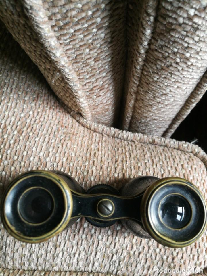 Antigüedades: Dos Gemelos, Binoculares, Prismáticos. Siglo XIX, uno de marfil sin roturas. - Foto 14 - 224821491