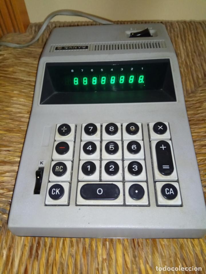 Antigüedades: CALCULADORA ELECTRICA SANYO MODEL ICC - 805 - Foto 5 - 166097338