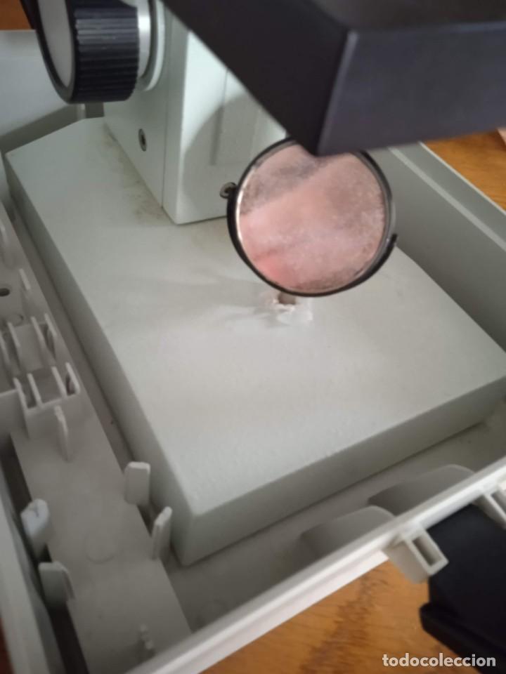 Antigüedades: Microscopio monocular profesional escolar Enosa 1980 - Foto 18 - 243228590