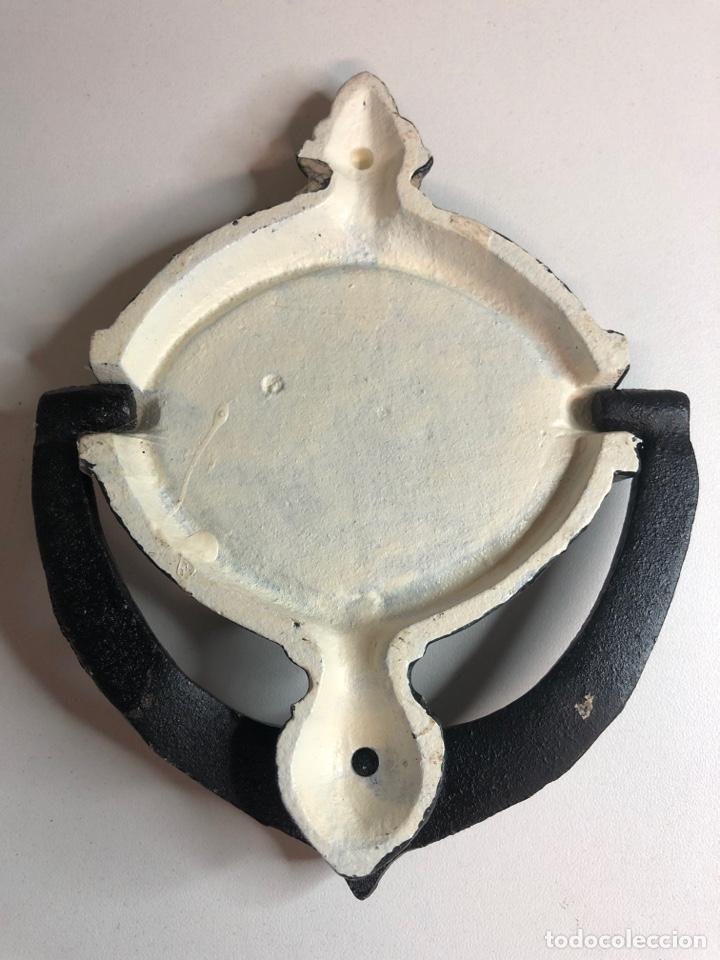 Antigüedades: Llamador o aldaba de hierro hierro fundido - Foto 2 - 227234756