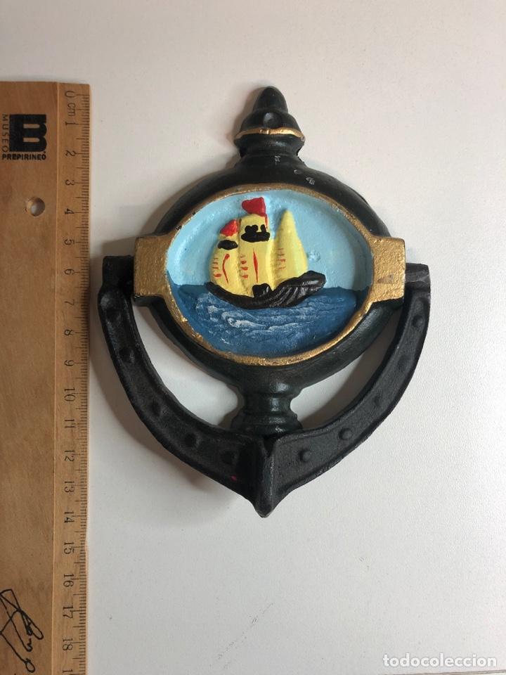 Antigüedades: Llamador o aldaba de hierro hierro fundido - Foto 4 - 227234756
