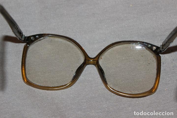 Antigüedades: 4 gafas graduadas 3 de pasta Vintage más 2 fundas-Christian Dior-2 indo-Ver fotos - Foto 11 - 227608415