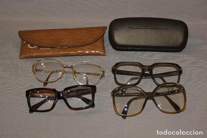 4 GAFAS GRADUADAS 3 DE PASTA VINTAGE MÁS 2 FUNDAS-CHRISTIAN DIOR-2 INDO-VER FOTOS (Antigüedades - Técnicas - Instrumentos Ópticos - Gafas Antiguas)
