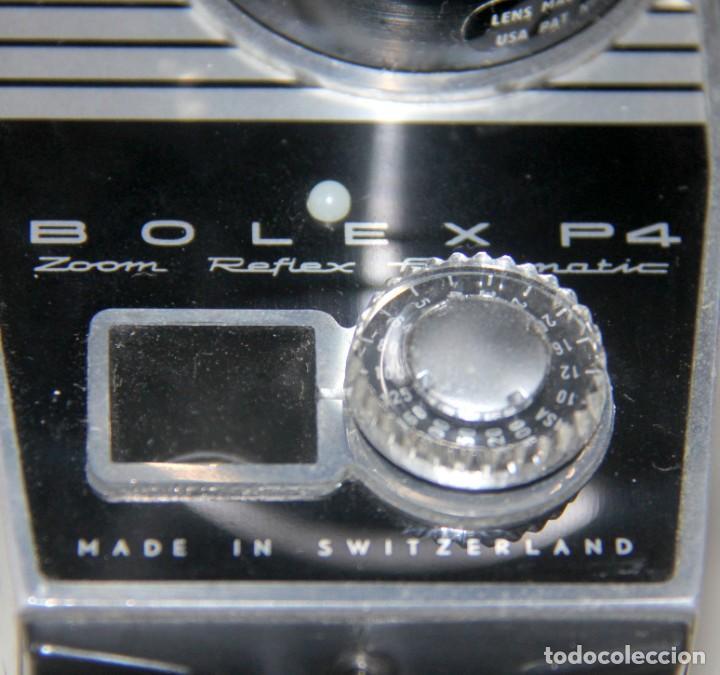 Antigüedades: Bolex Paillard P4 - Cámara De Cine 8mm, Zoom, Reflex – FUNDA DE PIEL – SUIZA 1965 - Foto 8 - 227648835