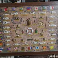Antigüedades: CUADRO GRANDE NUDOS MARINEROS. Lote 227850030