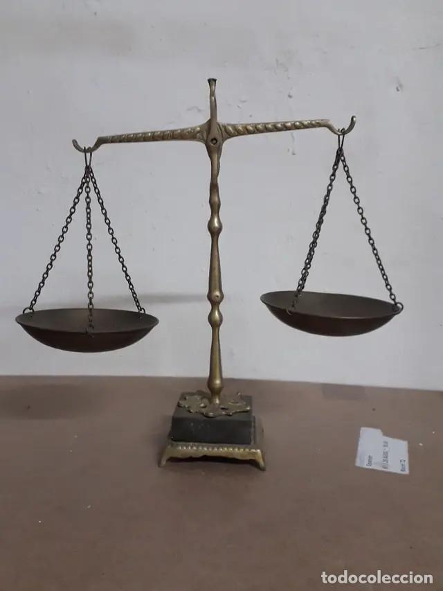 ANTIGUA BALANZA DE BRONCE (Antigüedades - Técnicas - Medidas de Peso - Balanzas Antiguas)