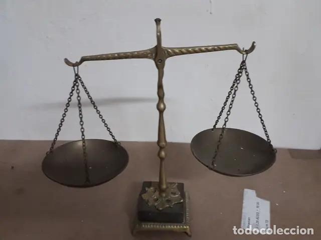 Antigüedades: Antigua balanza de bronce - Foto 6 - 227949745