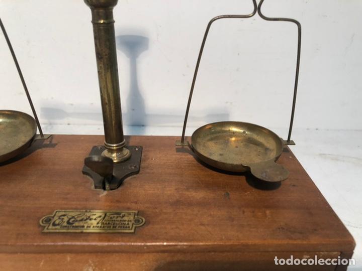 Antigüedades: PRECIOSA BALANZA DE FARMACIA ANTIGUA. MARCA CASTEL FORT, BARCELONA.. - Foto 5 - 228007426