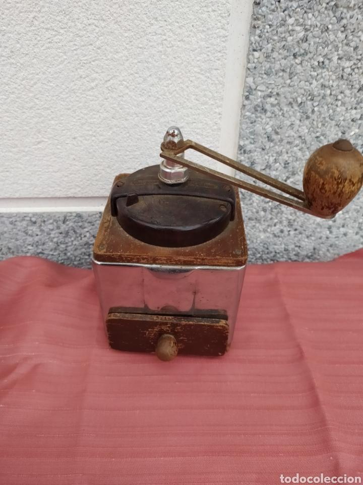 MOLINILLO MADERA Y CHAPA PEUGEOT FRERES (Antigüedades - Técnicas - Molinillos de Café Antiguos)