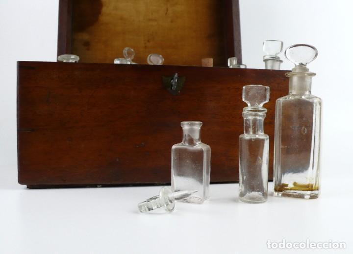 Antigüedades: Portable Apothecary Cabinet -Mahogany- Boticario médico -Siglo XIX - Foto 11 - 228291047