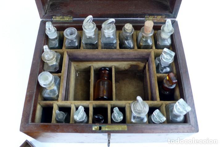 Antigüedades: Portable Apothecary Cabinet -Mahogany- Boticario médico -Siglo XIX - Foto 18 - 228291047