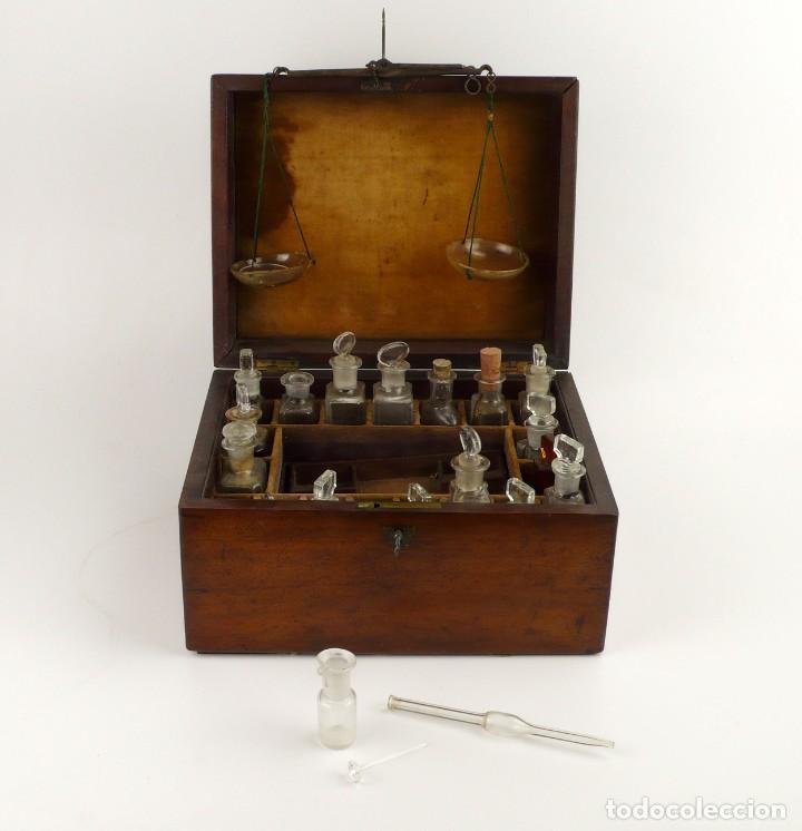 Antigüedades: Portable Apothecary Cabinet -Mahogany- Boticario médico -Siglo XIX - Foto 19 - 228291047