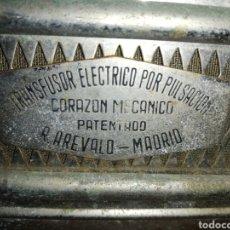 Antigüedades: RARO APARATO MÉDICO TRANSFUSOR ELÉCTRICO POR PULSACIÓNES.. CORAZÓN MECÁNICO.... PATENTADO... Lote 228303666