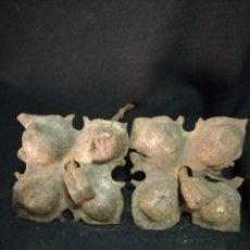 Antigüedades: GRAN PAREJA DE CLAVOS EN HIERRO FORJADO S. XV - S. XVI. Lote 228347710