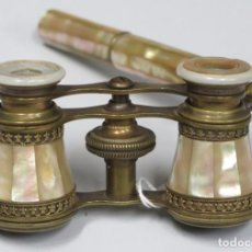 Antigüedades: ANTIGUOS BINOCULARES DE NACAR. Lote 228351500