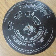 Antigüedades: ANTIGUA REGLA DE CALCULO.COMELECTRIC COMERCIAL DE ELECTRICIDAD S.A. Lote 228404915