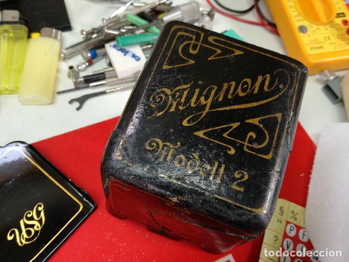 Antigüedades: MAGNÍFICA MÁQUINA DE ESCRIBIR MIGNON Nº2, RESTAURADA Y FUNCIONANDO - Foto 13 - 228554945
