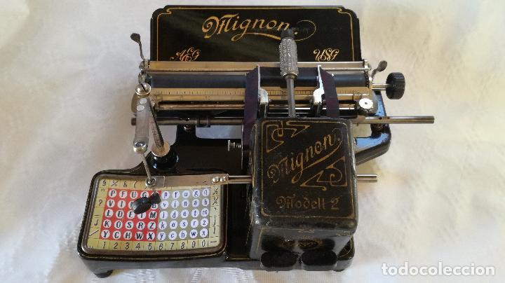 MAGNÍFICA MÁQUINA DE ESCRIBIR MIGNON Nº2, RESTAURADA Y FUNCIONANDO (Antigüedades - Técnicas - Máquinas de Escribir Antiguas - Mignon)