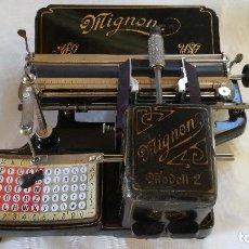 Antigüedades: MAGNÍFICA MÁQUINA DE ESCRIBIR MIGNON Nº2, RESTAURADA Y FUNCIONANDO. Lote 228554945