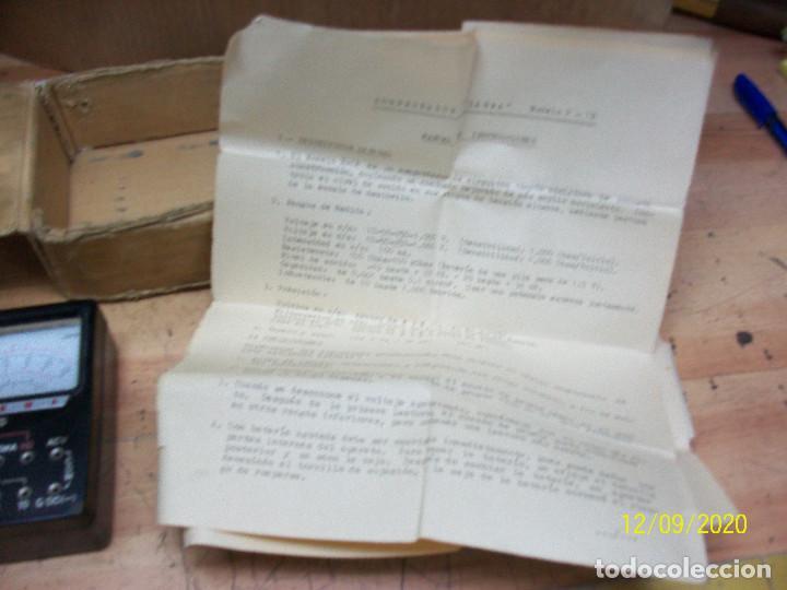 Antigüedades: MULTIMETRO/MULTITESTER ANTIGUO ANALOGICO-SANWA-P-1B - Foto 4 - 229189765