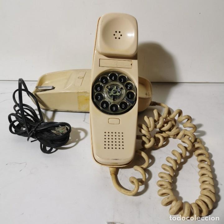 ANTIGUO TELEFONO GÓNDOLA - CITESA - MALAGA - BLANCO - ADAPTADO A LA NUEVA CONEXIÓN - NUNCA PROBADO (Antigüedades - Técnicas - Teléfonos Antiguos)