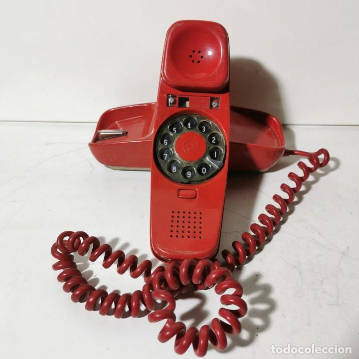 ANTIGUO TELEFONO GÓNDOLA - CITESA - MALAGA - ROJO - CNTE - TELEFONICA - NUNCA PROBADO (Antigüedades - Técnicas - Teléfonos Antiguos)