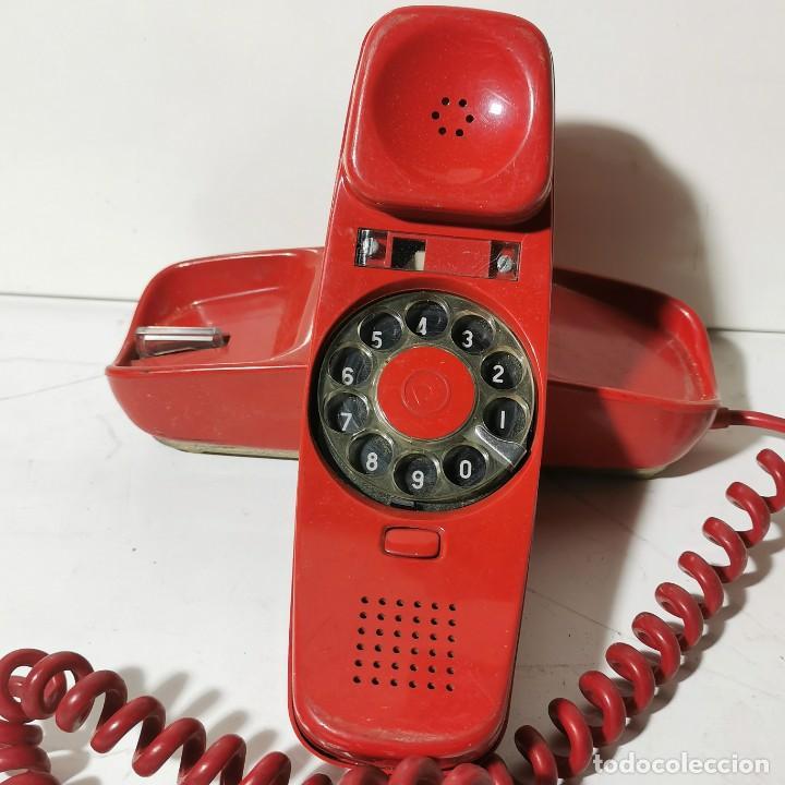 Teléfonos: ANTIGUO TELEFONO GÓNDOLA - CITESA - MALAGA - ROJO - CNTE - TELEFONICA - NUNCA PROBADO - Foto 2 - 229219200