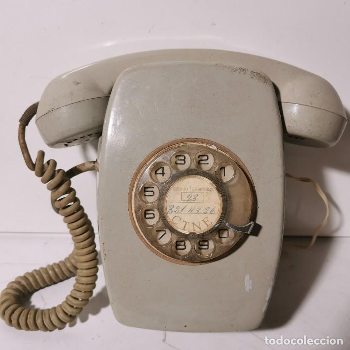 TELEFONO ANTIGUO VINTAGE DE PARED - GRIS - CNTE - TELEFONICA - NUNCA PROBADO (Antigüedades - Técnicas - Teléfonos Antiguos)