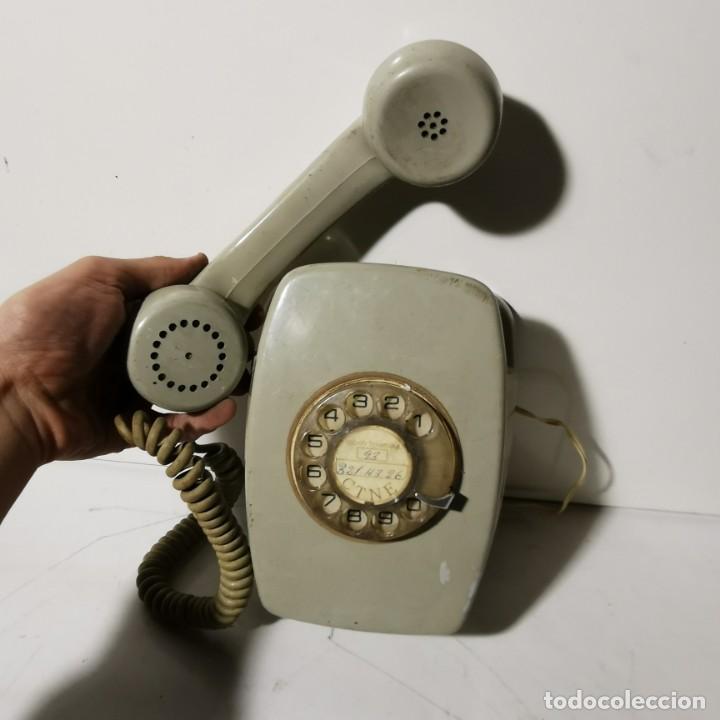Teléfonos: TELEFONO ANTIGUO VINTAGE DE PARED - GRIS - CNTE - TELEFONICA - NUNCA PROBADO - Foto 4 - 229220030