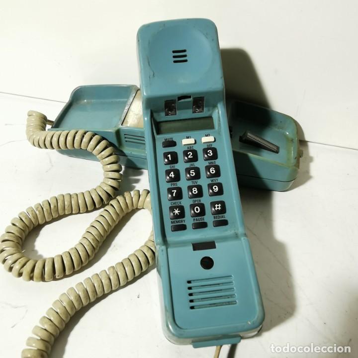ANTIGUO TELEFONO ESTILO GÓNDOLA - AZUL - SIEMENS MINISET 270 TM - NUNCA PROBADO (Antigüedades - Técnicas - Teléfonos Antiguos)