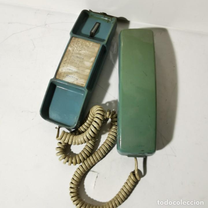 Teléfonos: ANTIGUO TELEFONO ESTILO GÓNDOLA - AZUL - SIEMENS MINISET 270 TM - NUNCA PROBADO - Foto 2 - 229220745