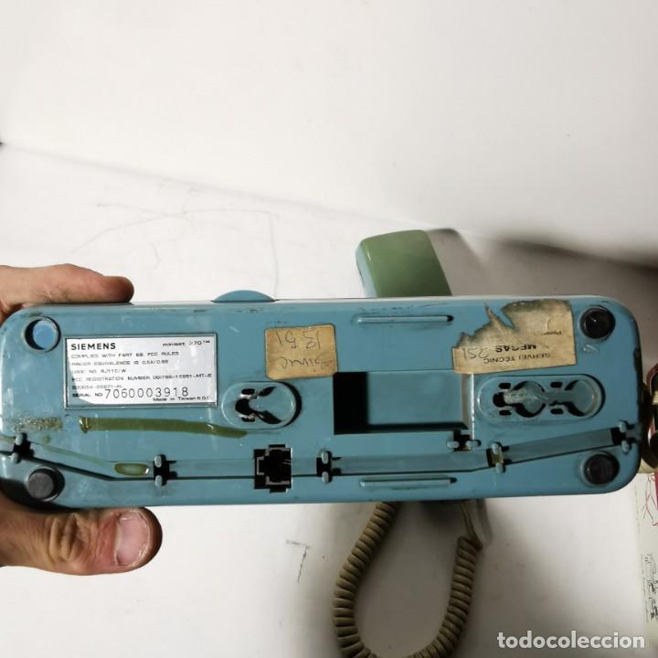 Teléfonos: ANTIGUO TELEFONO ESTILO GÓNDOLA - AZUL - SIEMENS MINISET 270 TM - NUNCA PROBADO - Foto 4 - 229220745