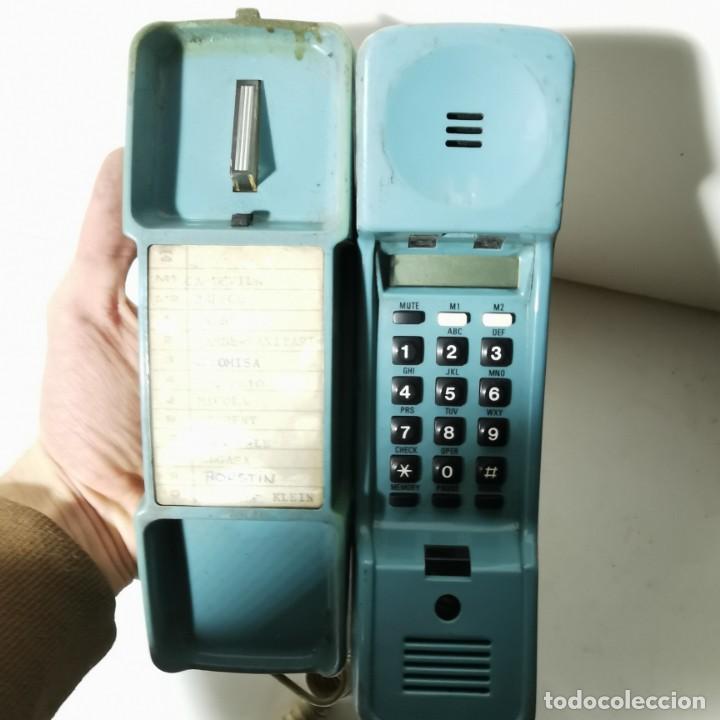 Teléfonos: ANTIGUO TELEFONO ESTILO GÓNDOLA - AZUL - SIEMENS MINISET 270 TM - NUNCA PROBADO - Foto 5 - 229220745