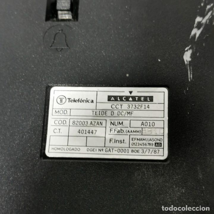 Teléfonos: TELEFONO ANTIGUO VINTAGE DE SOBREMESA TEIDE - TELEFONICA - ALCATEL - BLANCO - CNTE - NUNCA PROBADO - Foto 5 - 229221085