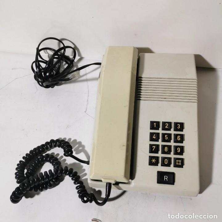 TELEFONO ANTIGUO VINTAGE DE SOBREMESA TEIDE - TELEFONICA - AMPER - BLANCO - CNTE - NUNCA PROBADO (Antigüedades - Técnicas - Teléfonos Antiguos)